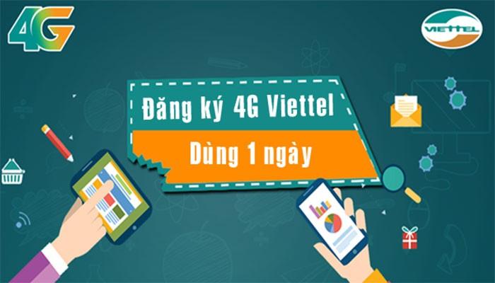 Tổng hợp gói cước 4g 1 ngày của Viettel và cách đăng ký
